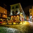View of Typical Paris Cafe Le Consulat on Montmartre, France — Stock Photo