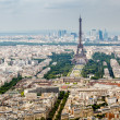 Aerial View on Champs de Mars and Eiffel Tower, Paris, France — Stock Photo