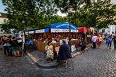 Place du Tertre in Montmartre, Paris, France — Stock Photo