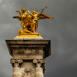 Alexandre III Bridge Pillar Close Up against Clouds, Paris, Fran — Stock Photo #28804831