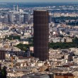 Aerial View on Paris and Montparnasse from Eiffel Tower, France — Stock Photo