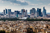 Aerial View on La Defense and its Scyscrapers in Paris, France — Stock Photo