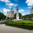 Notre Dame de Paris Garden on Cite Island, Paris, France — Stock Photo