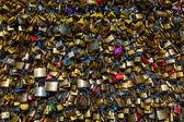 Love Padlocks at Pont des Arts in Paris, France — Stock Photo