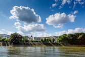 Alle des Cygnes (Swans Alley) and Seine River in Paris, France — Stock Photo