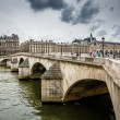 Stock Photo: Pont Neuf and Cite Island in Paris, France