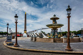 Place de la Concorde on Summer Day in Paris, France — Stock Photo