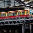 Stock Photo: Electric Train Arrived on U-Bahn Station in Berlin, Germany