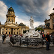 German Cathedral and Concert Hall on Gendarmenmarkt Square in Be — Stock Photo