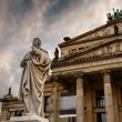 Friedrich Schiller Sculpture and Concert Hall on Gendarmenmarkt — Stock Photo