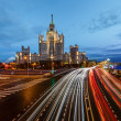 Stalin Skyscraper on Kotelnicheskaya Embankment of the Moscow Ri — Stock Photo