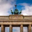 Quadriga on Top of the Brandenburger Tor (Brandenburg Gate) in B — Stockfoto