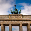 Quadriga on Top of the Brandenburger Tor (Brandenburg Gate) in B — Stock Photo