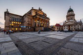 French Cathedral and Concert Hall on Gendarmenmarkt Square in th — Stock Photo