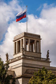Russian Embassy Building and Russion Flag in Berlin, Germany — Stock Photo