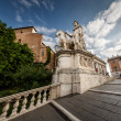 Statue of Castor at the Cordonata Stairs to the Piazza del Campi — 图库照片