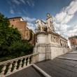 Statue of Castor at the Cordonata Stairs to the Piazza del Campi — ストック写真