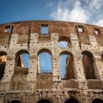 Colosseum or Coliseum, also known as the Flavian Amphitheatre, R — Stock Photo