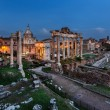 Panorama of Roman Forum (Foro Romano) in the Evening, Rome, Ital — Lizenzfreies Foto