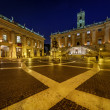 Piazza del Campidoglio on Capitoline Hill with Palazzo Senatorio — Stock Photo