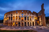 Colosseum or Coliseum, also known as the Flavian Amphitheatre in — Stock Photo