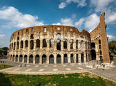 Colosseum or Coliseum, also known as the Flavian Amphitheatre, R — Stock Photo