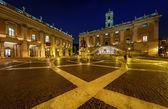 Piazza del Campidoglio on Capitoline Hill with Palazzo Senatorio — Stock Photo