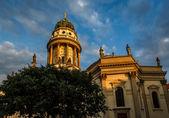 German Cathedral on Gendarmenmarkt Square in Berlin, Germany — Foto de Stock