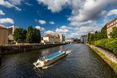 Boat Trip in the Spree River, Berlin, Germany — Stock Photo