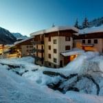 Illuminated Ski Resort of Madonna di Campiglio in the Morning, I — Stock Photo