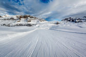 Ski Slope near Madonna di Campiglio Ski Resort, Italian Alps, It — Stock Photo