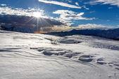 Ski Slope near Madonna di Campiglio Ski Resort, Italian Alps, It — 图库照片