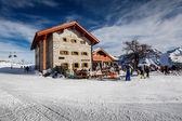Ski Restaurant in Madonna di Campiglio Ski Resort, Italian Alps, — Stock Photo