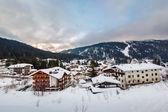 Ski Resort of Madonna di Campiglio in the Morning, Italian Alps, — Stock Photo
