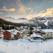 Ski Resort of Madonna di Campiglio in the Morning, Italian Alps, — Stock Photo #40499177