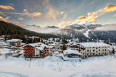 Ski Resort of Madonna di Campiglio in the Morning, Italian Alps, — Stock Photo