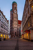 Church of Our Lady (Frauenkirche) in Munich at Dawn, Bavaria, Ge — Stock Photo