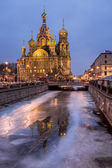 Church of the Savior on Spilled Blood in the Morning, Saint Pete — Stock Photo