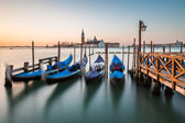 Grand Canal Embankment and San Giorgio Maggiore Church at Dawn,  — Stock Photo