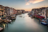 View on Grand Canal from Rialto Bridge, Venice, Italy — Stock Photo