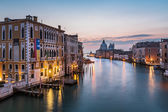 View on Grand Canal and Santa Maria della Salute Church from Acc — Stock Photo