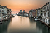 Grand Canal and Santa Maria della Salute Church from Accademia B — Stock Photo