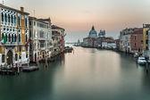 Grand Canal and Santa Maria della Salute Church from Accademia B — Stock Photo