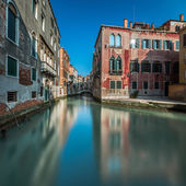 Typical Canal, Bridge and Historical Buildings in Venice, Italy — Stock Photo