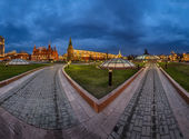 Panorama of Manege Square and Moscow Kremlin in the Evening, Mos — Stock Photo