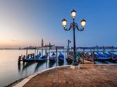 Grand Canal Embankment and San Giorgio Maggiore Church at Dawn,  — Stock Photo