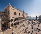 View on Piazza San Marco and Doge's Palace from San Marco Cathed — Stok fotoğraf
