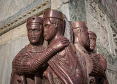 The Tetrarchs - a Porphyry Sculpture of four Roman Emperors, Sac — Stock Photo