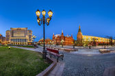 Manege Square and Moscow Kremlin in the Evening, Moscow, Russia — Stock Photo