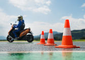 Motorcycle training school — Stock Photo